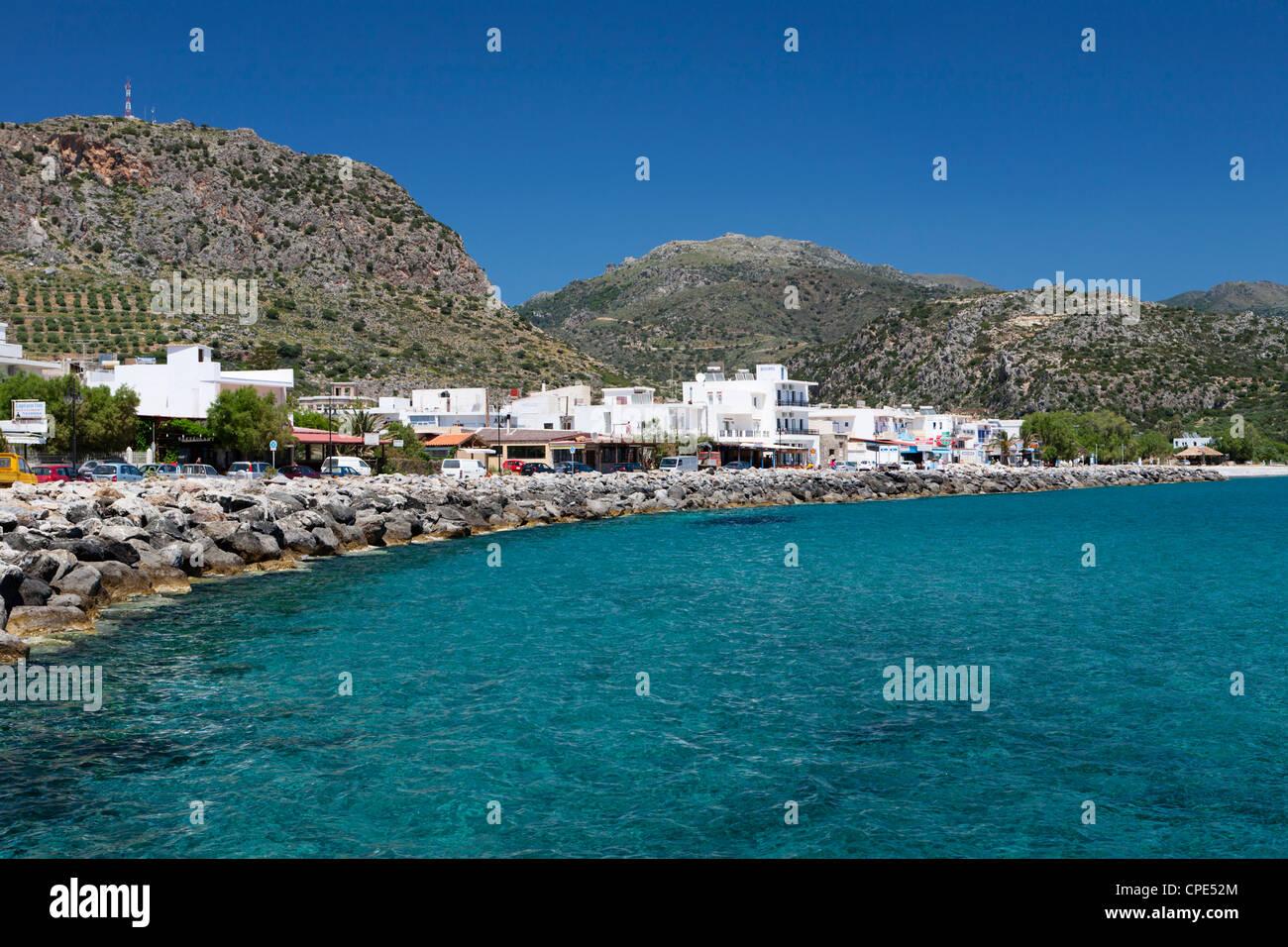 Paleohora, Chania region, Crete, Greek Islands, Greece, Europe - Stock Image
