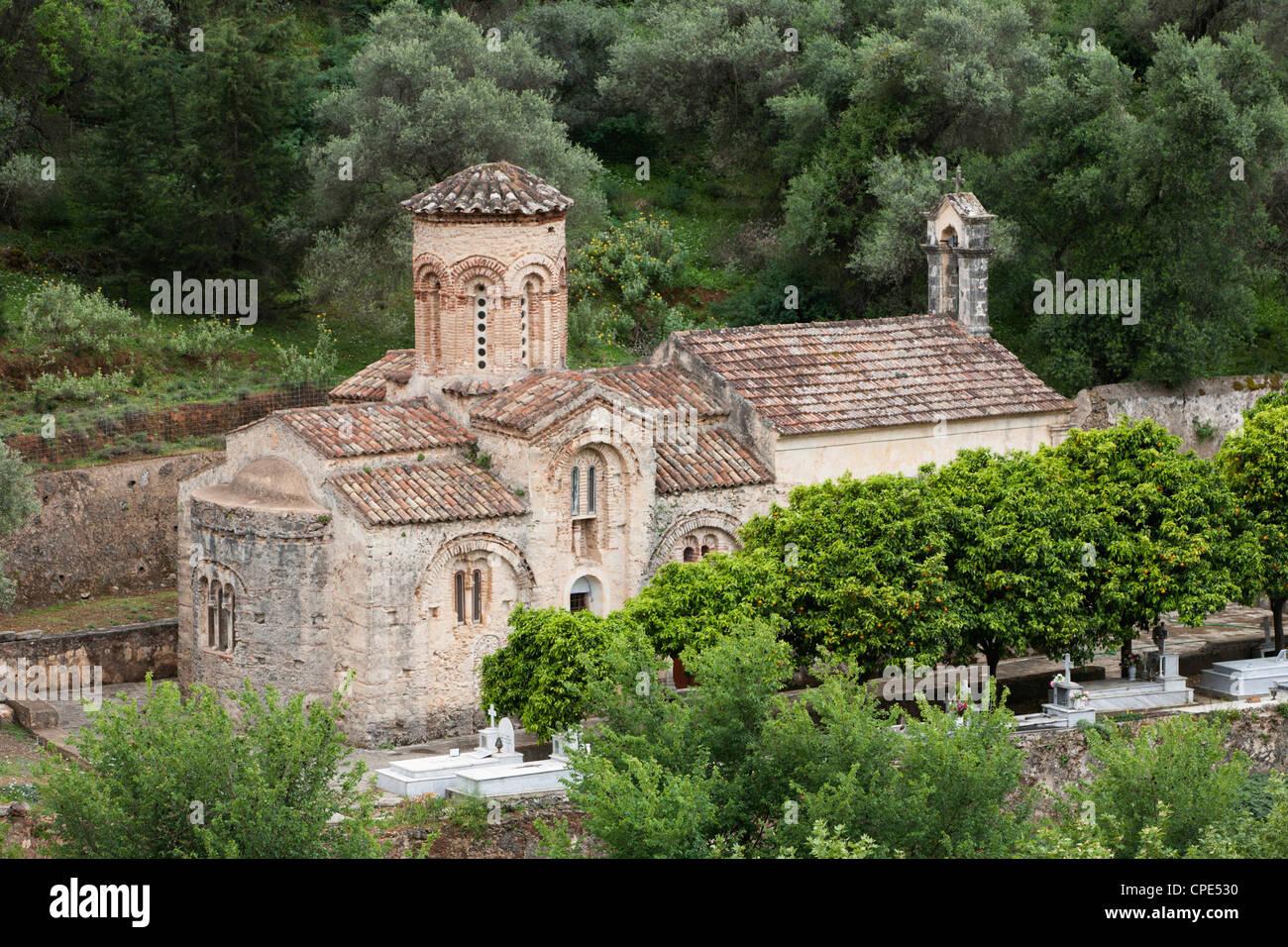 Ayios Nikolaos Byzantine church, near Samonas, White Mountains (Lefka Ori), Chania region, Crete, Greek Islands, - Stock Image
