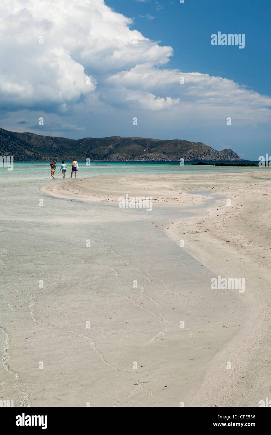 Elafonissi Beach, Chania region, Crete, Greek Islands, Greece, Europe - Stock Image