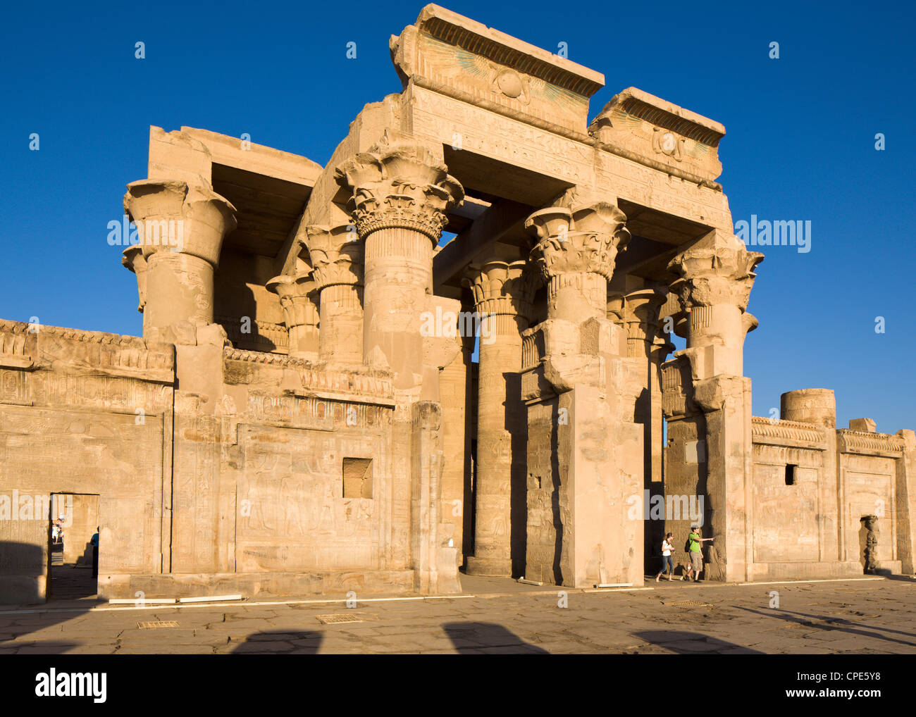 The twin Temple of Sobek and Haroeris, Kom Ombo, Egypt, North Africa, Africa Stock Photo