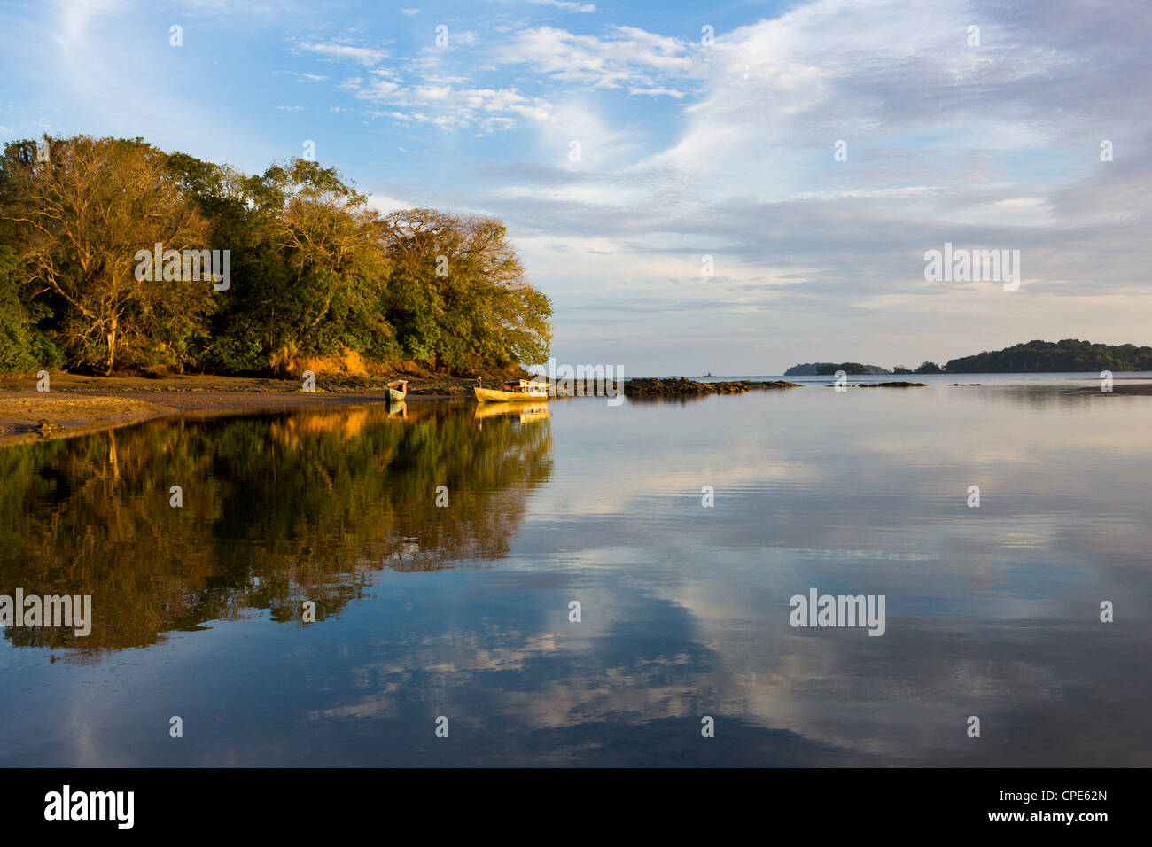 Early evening, Isla Boca Brava, Panama, Central America - Stock Image