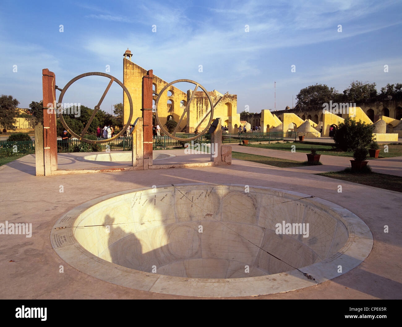 The 18th century observatory, Jantar Mantar, built by Jai Singh II in Jaipur, Rajasthan, India, Asia - Stock Image