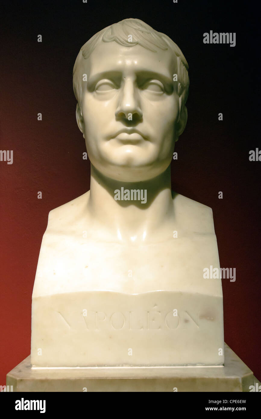 Marble bust of Napoleon I (1807-9) by Antoine-Denis Chaudet - Stock Image
