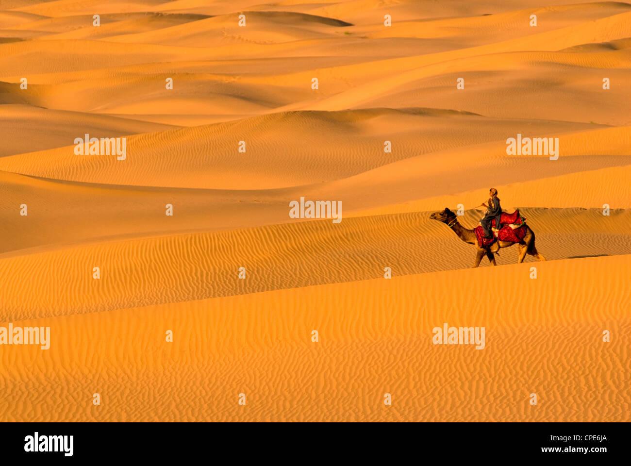 Sam Sand Dunes, Rajasthan, India, Asia - Stock Image