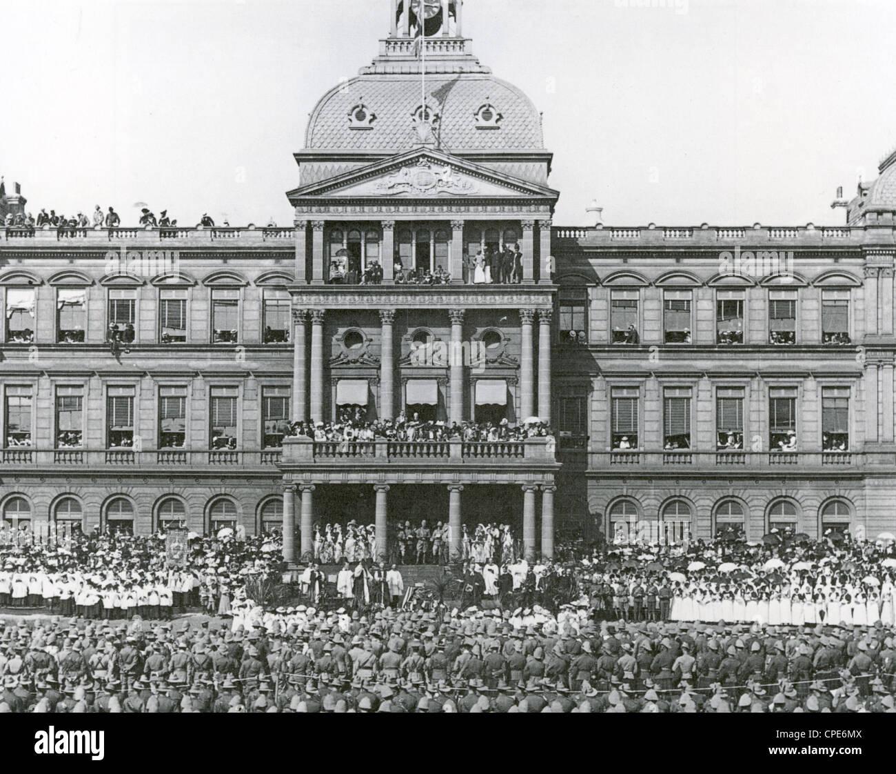 SECOND BOER WAR (1899-1902) Thanksgiving victory service in Pretoria, 8 June 1902 - Stock Image