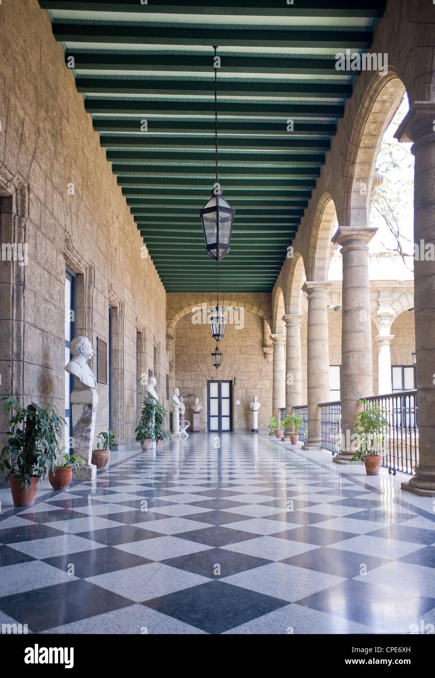 Palacio de los Capitanes Generales, Havana, Cuba, West Indies, Central America - Stock Image