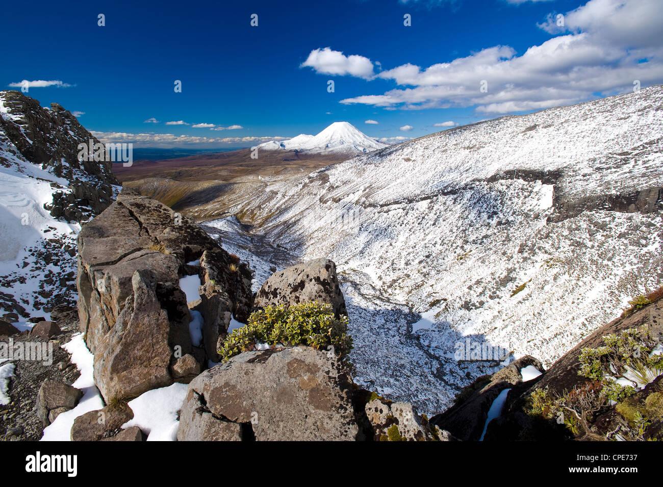 Mount Ngauruhoe, Tongariro National Park, UNESCO World Heritage Site, North Island, New Zealand, Pacific - Stock Image