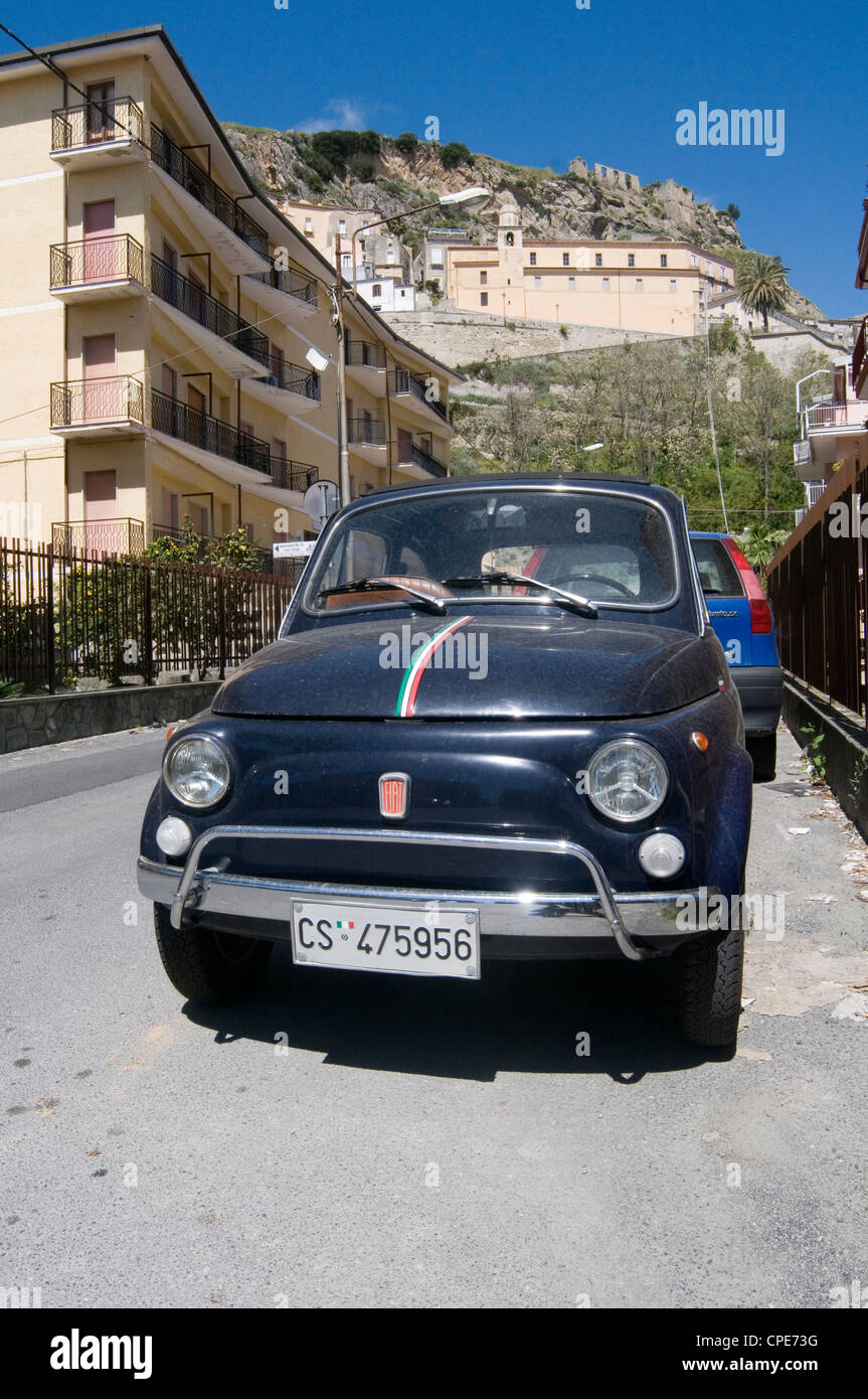 fiat 500 classic car peoples cars small italy italian classic - Stock Image