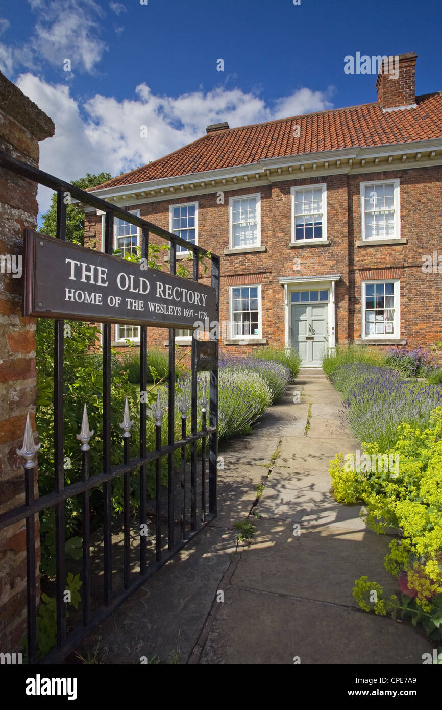 The Old Rectory in Epworth, the birthplace of John and Charles Wesley, founders of the Methodist Movement - Stock Image