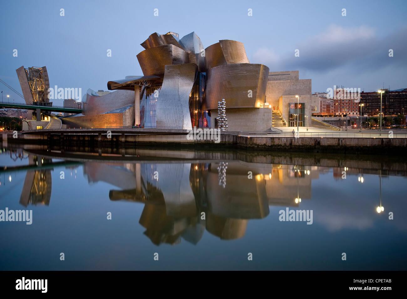 Guggenheim Museum, Bilbao, Euskal Herria, Euskadi, Spain, Europe - Stock Image