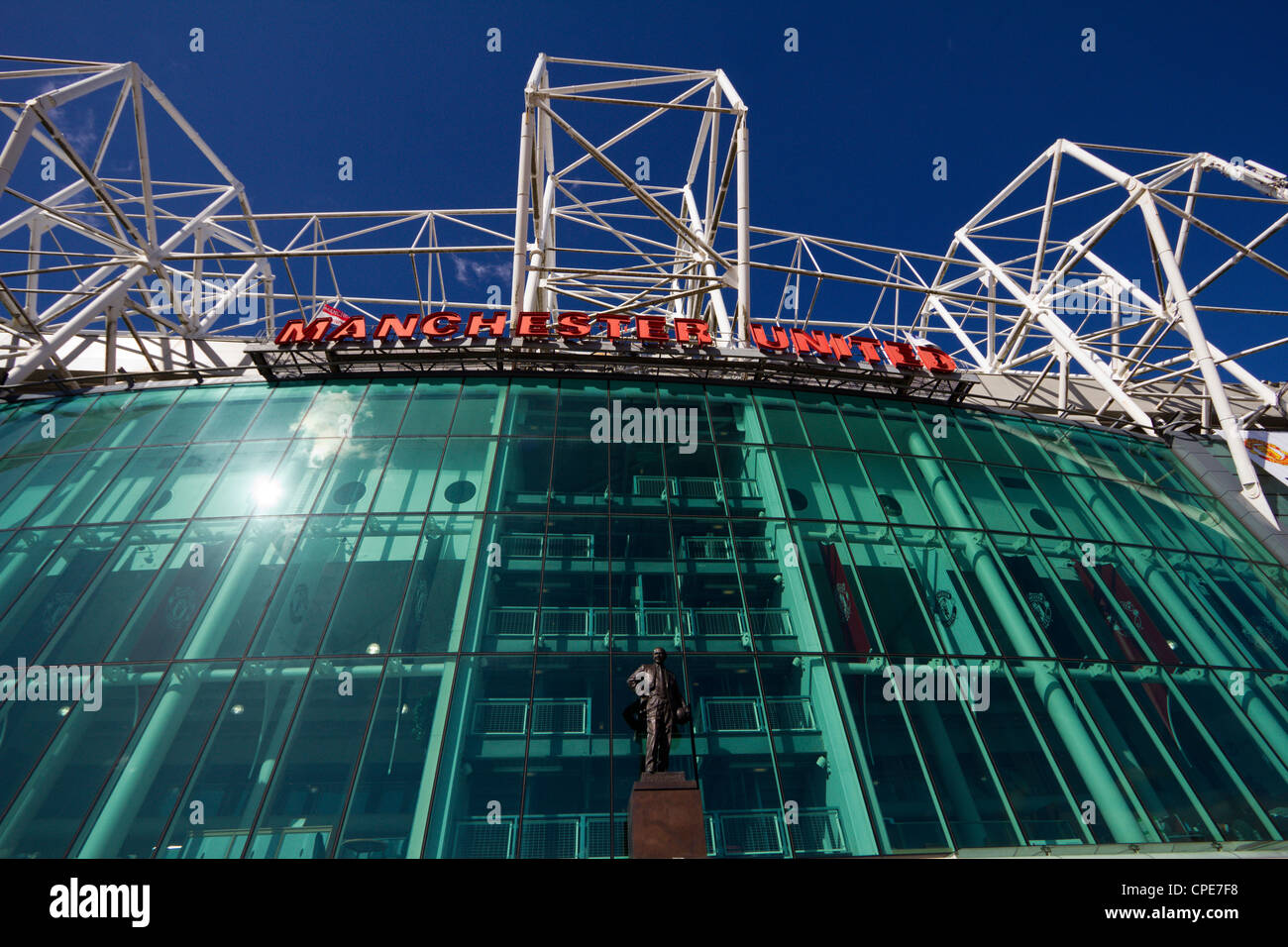 manchester united football club manchester england - Stock Image