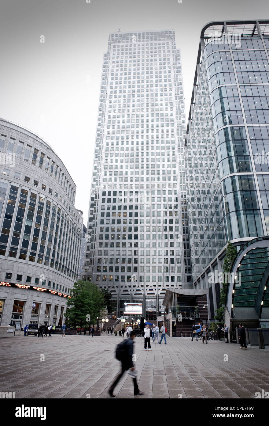 Canary Wharf, Docklands, London, England, United Kingdom, Europe - Stock Image