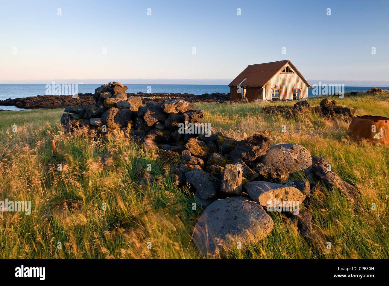 Malarriff, Snaefellsnes Peninsula, West Iceland, Iceland, Polar Regions - Stock Image