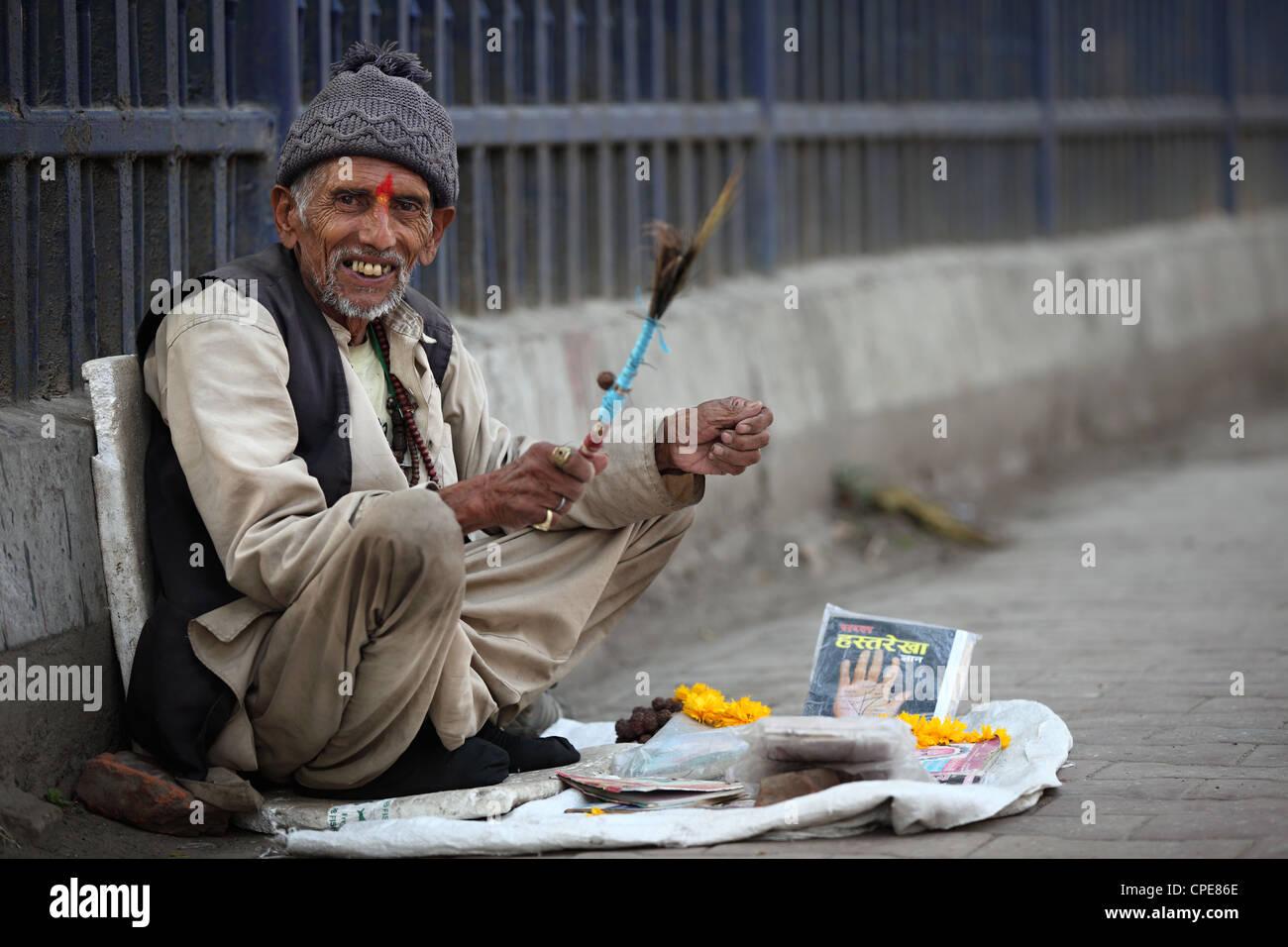 Fortune teller Kathmandu Nepal - Stock Image
