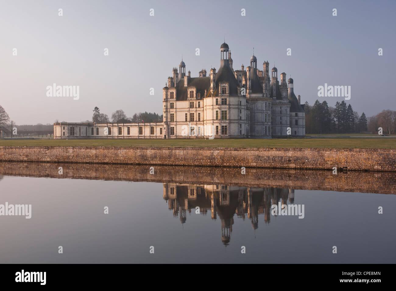 Chateau de Chambord, UNESCO World Heritage Site, Chambord, Loire Valley, France, Europe - Stock Image
