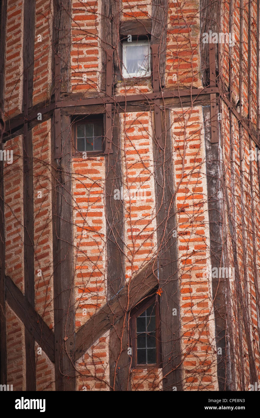 Wood beamed house, Tours, Indre-et-Loire, France, Europe - Stock Image