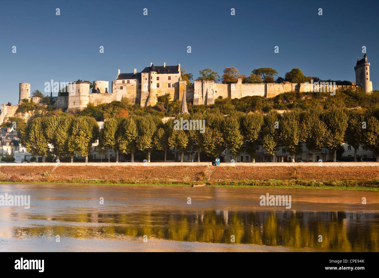 The chateau of Chinon, UNESCO World Heritage Site, Indre-et-Loire, Loire Valley, France, Europe - Stock Image