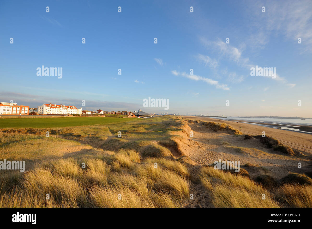 Sand dunes, Crosby Beach, Merseyside, England, United Kingdom, Europe - Stock Image