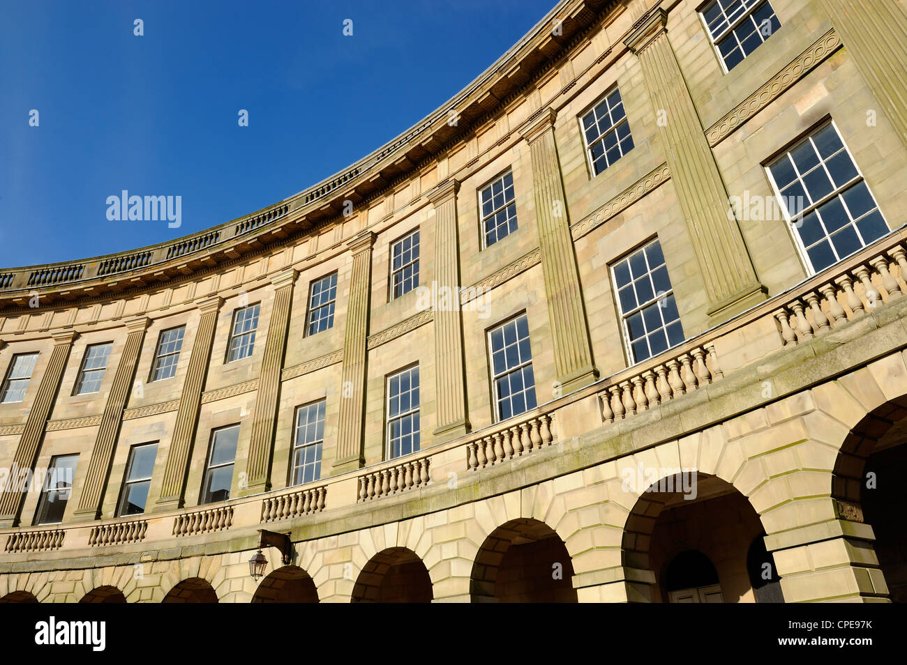 The Crescent, Buxton, Peak District National Park, Derbyshire, England, United Kingdom, Europe - Stock Image