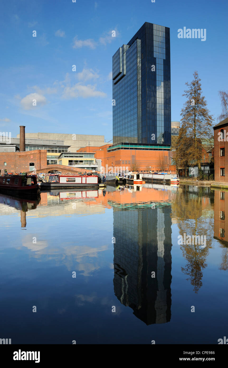 Gas Street Canal Basin, Birmingham, West Midlands, England, United Kingdom, Europe Stock Photo