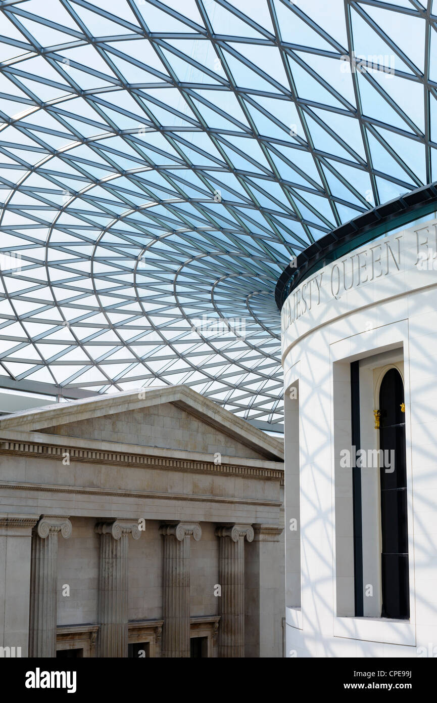 Great Court, British Museum, Bloomsbury, London, England, United Kingdom, Europe - Stock Image