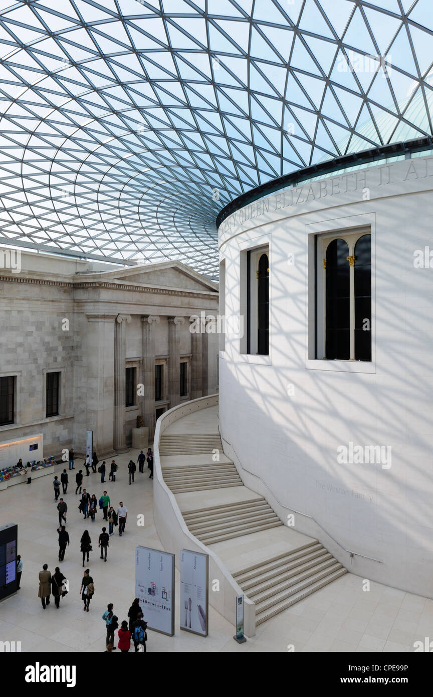 Great Court, British Museum, Bloomsbury, London, England, United Kingdom, Europe Stock Photo