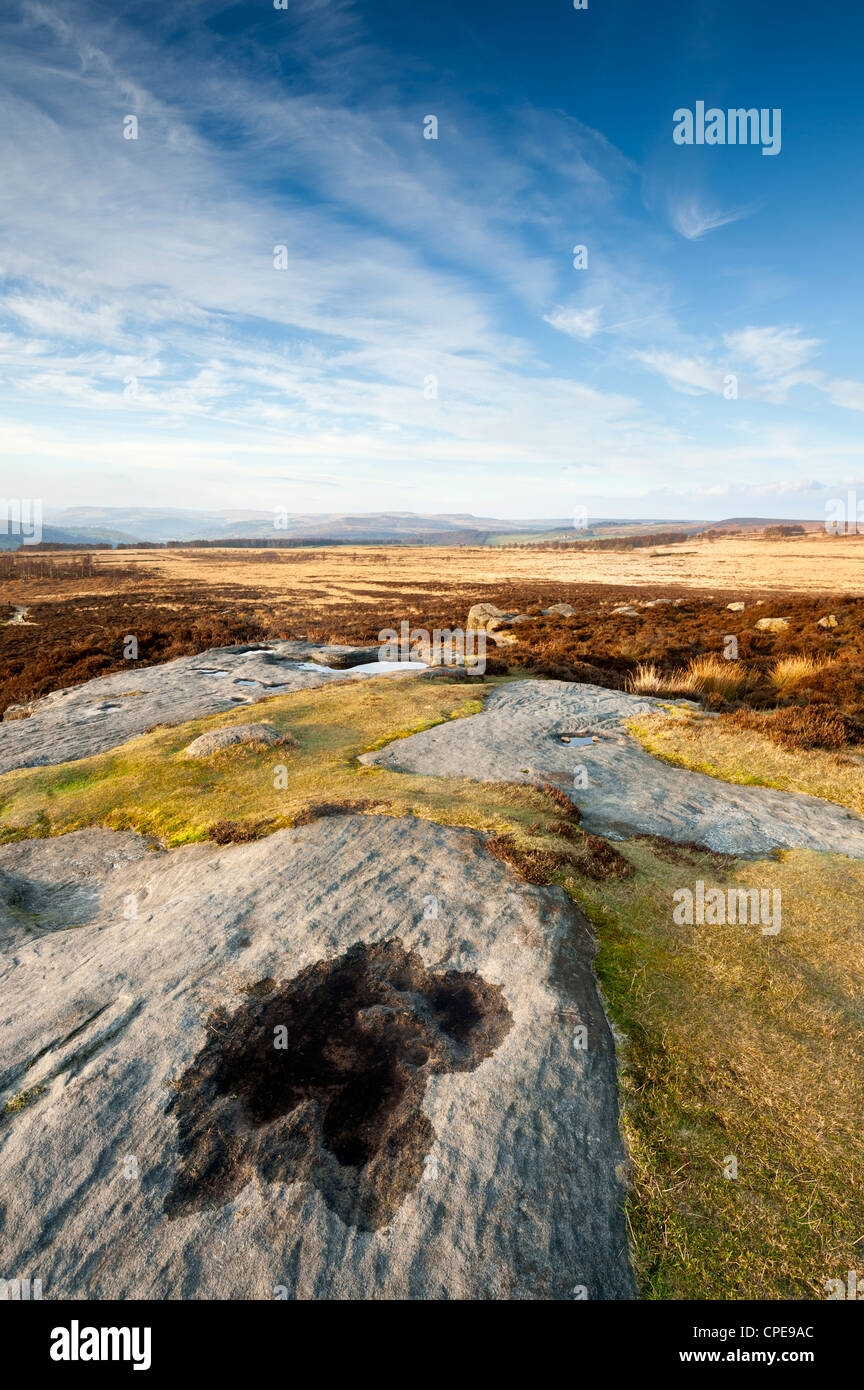 Curbar and Froggatt Edge, Peak District National Park, Derbyshire, England, United Kingdom, Europe - Stock Image