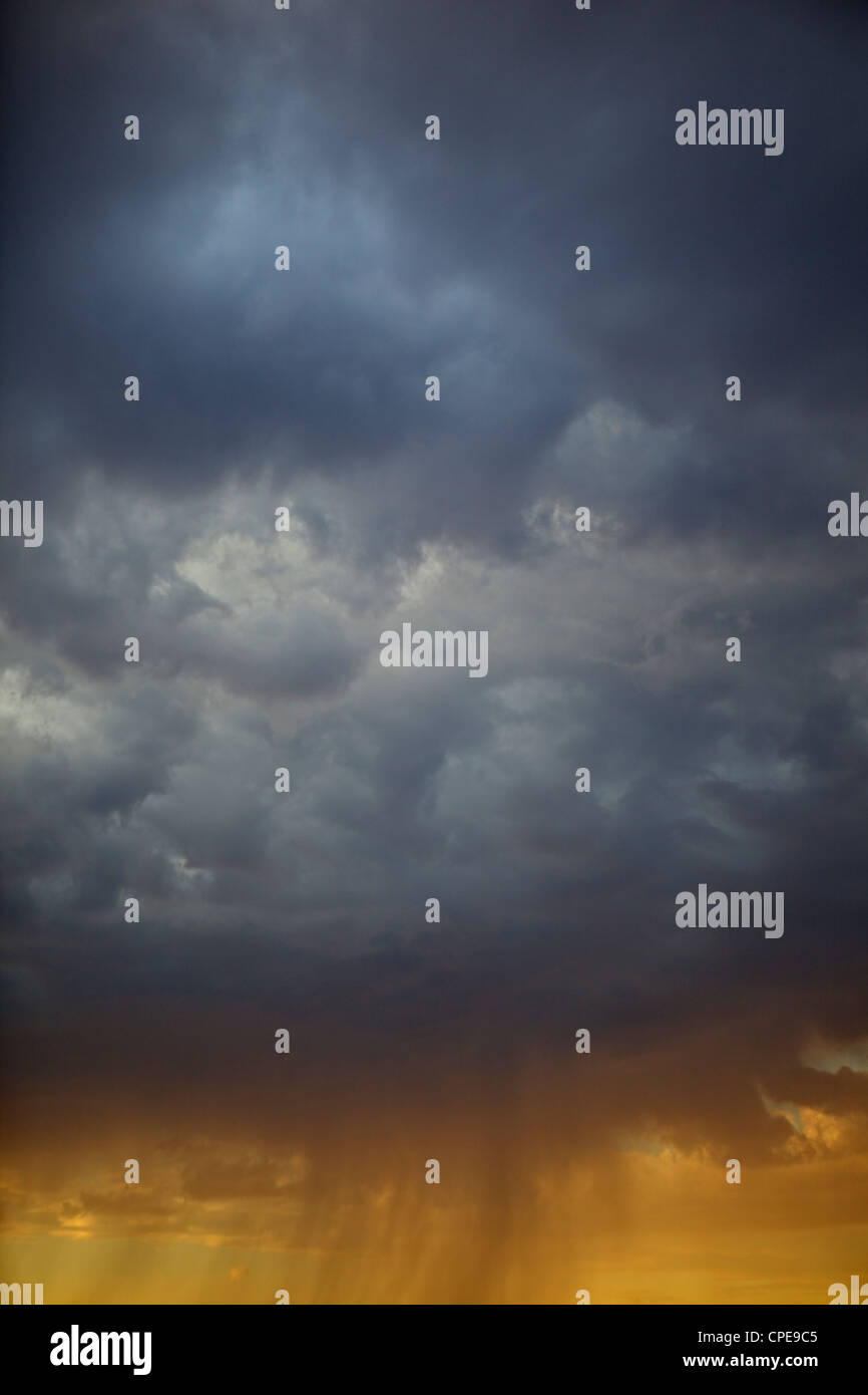 Storm clouds and sunshine, Kansas, United States of America, North America - Stock Image