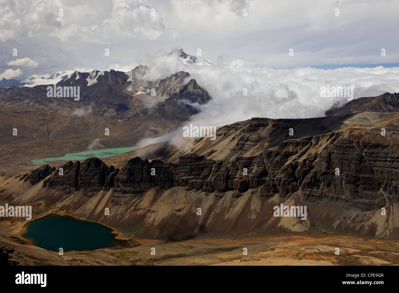 Cordillera Real, Calahuyo, Andes Mountains, Bolivia, South America - Stock Image