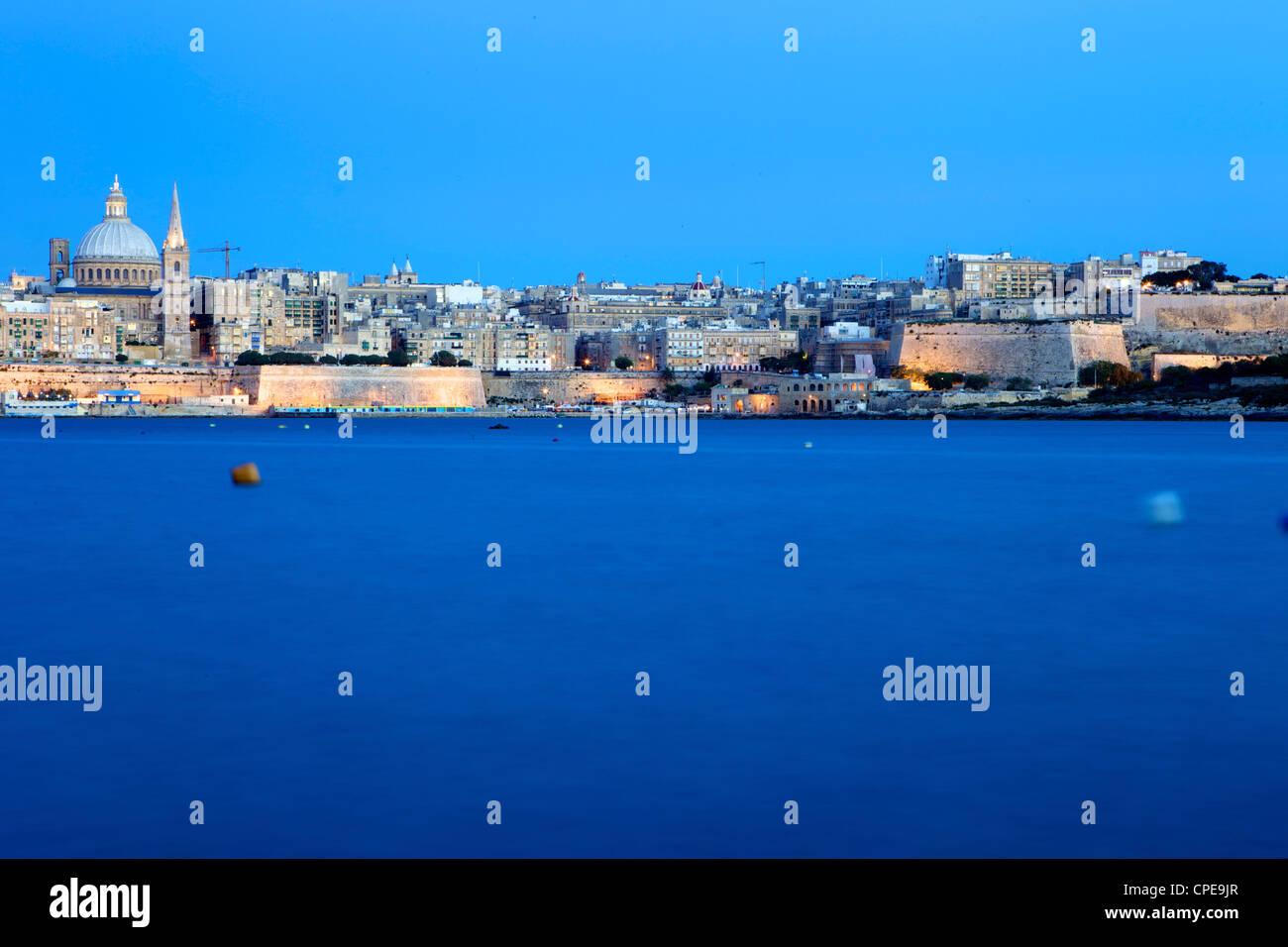 Overlooking Valletta, Malta, Mediterranean, Europe - Stock Image