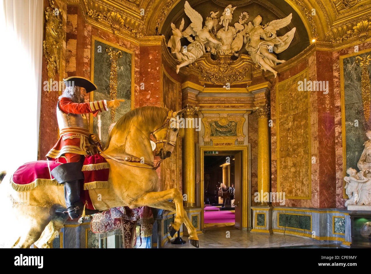 Europe Italy Piedmont Turin, Italy Savoy Residences Royal Armoury Gallery Beaumont Eugene of Savoy at the Battle - Stock Image