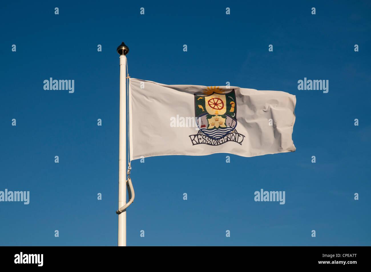 Flag for Kessingland Village, Kessingland, Suffolk, England - Stock Image