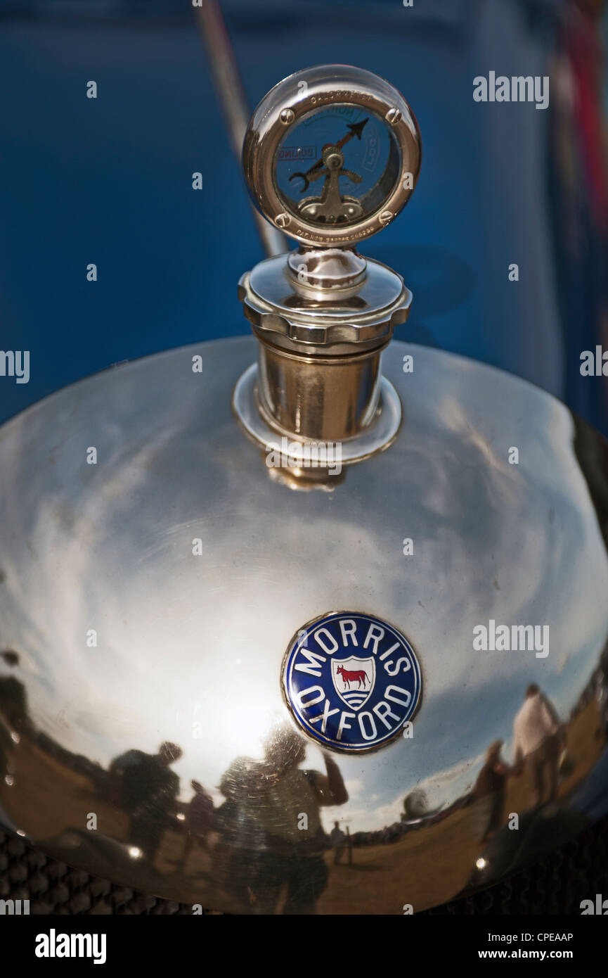 bullnose morris radiator and temperature gauge - Stock Image