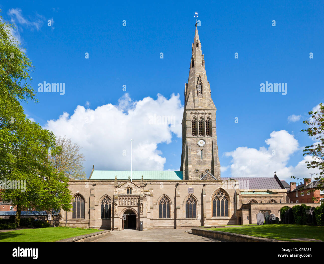 Leicester cathedral Leicestershire England UK GB EU Europe - Stock Image