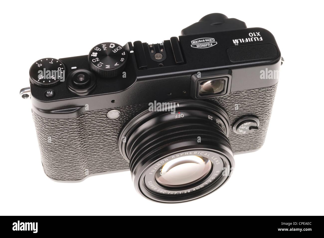 Fujifilm X10 small pocketable advanced digital camera 2012 - Stock Image