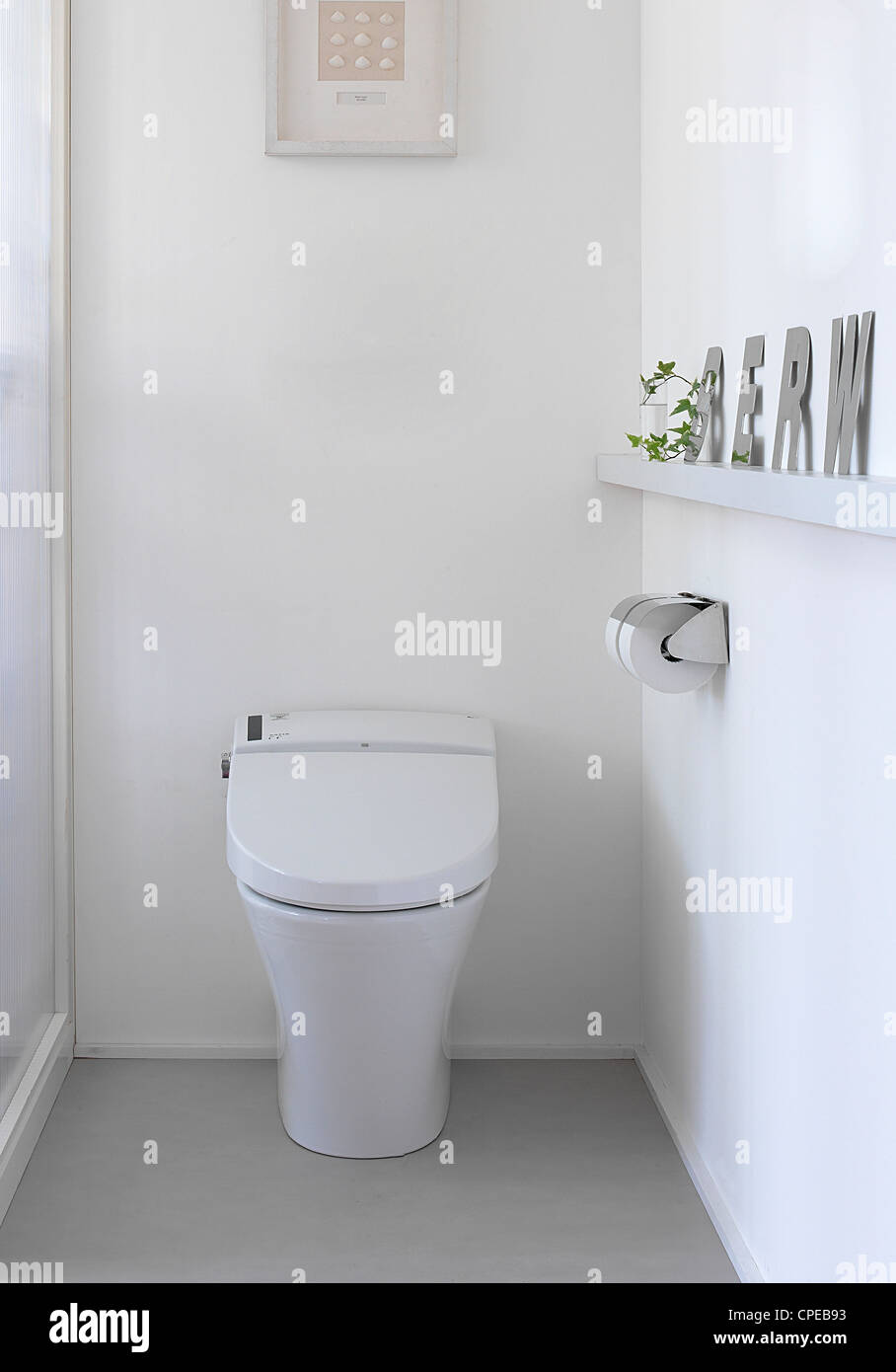 Interior Of Toilet, Toilet Seat Stock Photo: 48259375 - Alamy