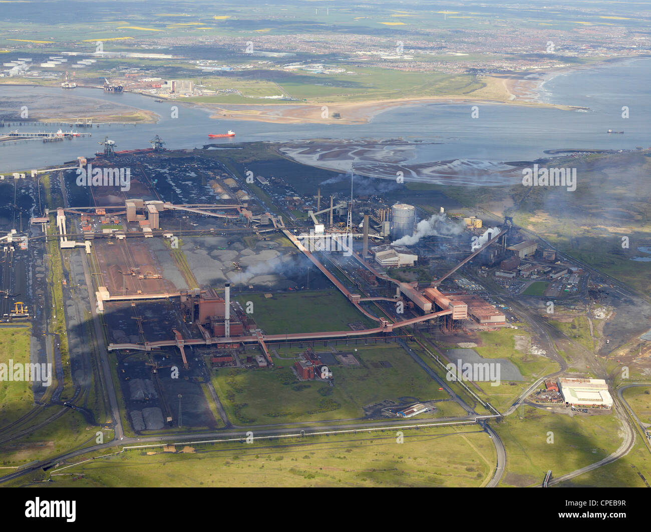 SSI/ ex Corus SteelworksTeeside from the Air, North East England, May 2012 Stock Photo