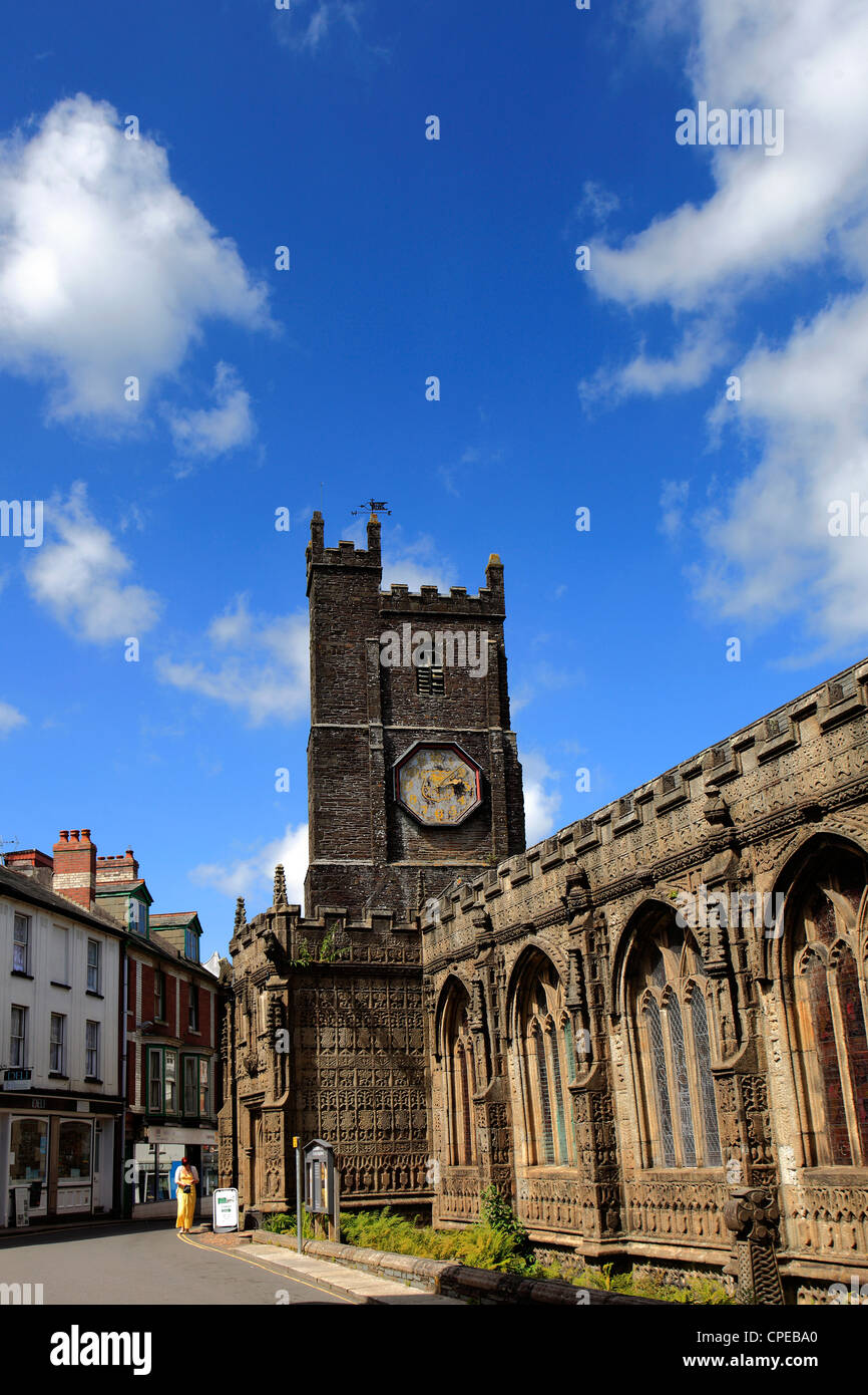 St Mary Magdalene parish church Launceston town Cornwall England UK Stock Photo