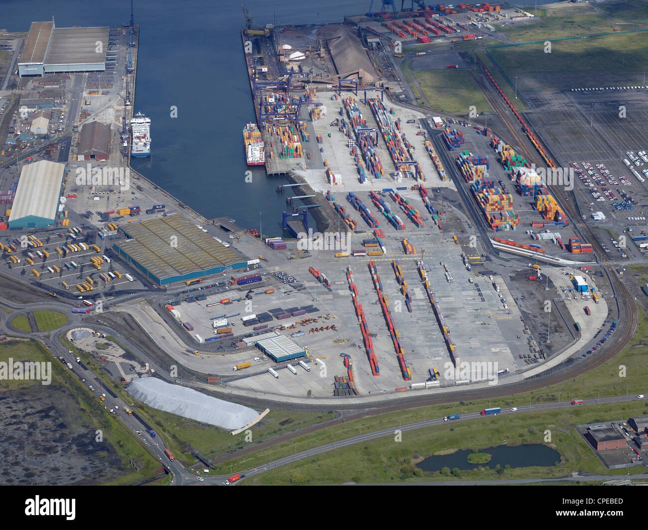 Teesport from the Air, North East England, May 2012 - Stock Image