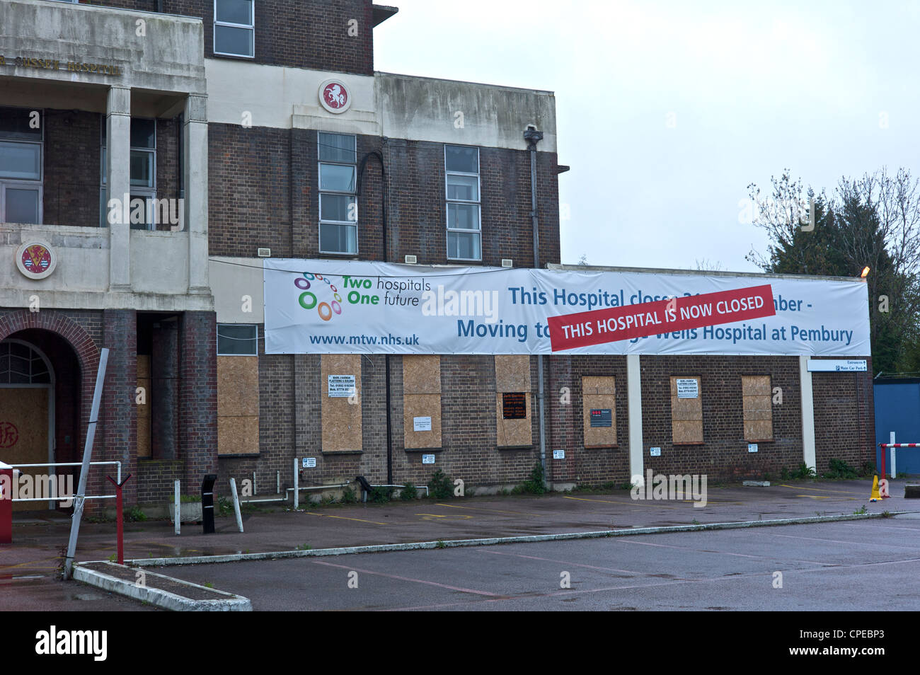 Kent & Sussex hospital closed in Tunbridge Wells - Stock Image