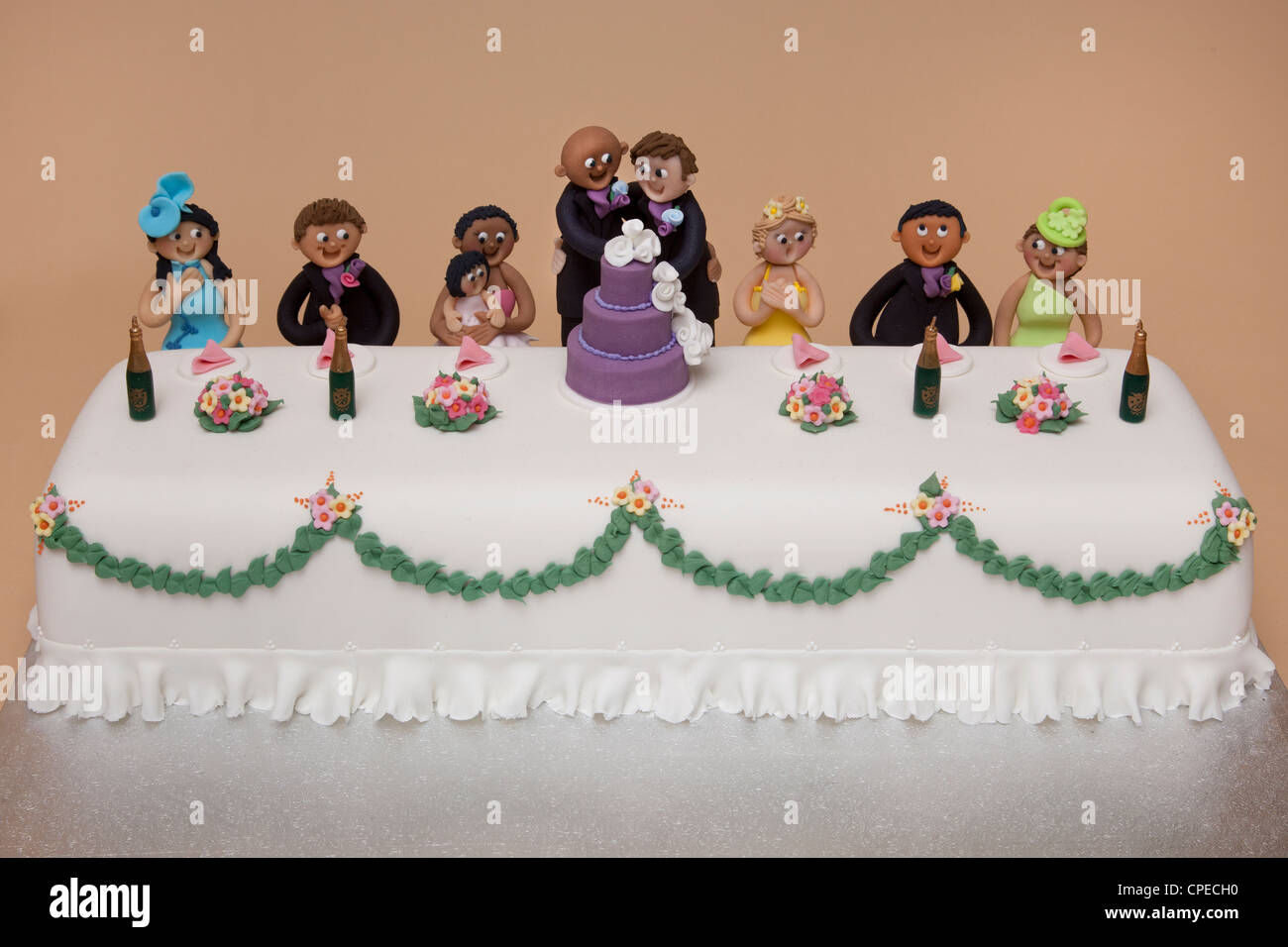 wedding cakes for gay couples top table wedding cake of couples marriage stock photo 24373