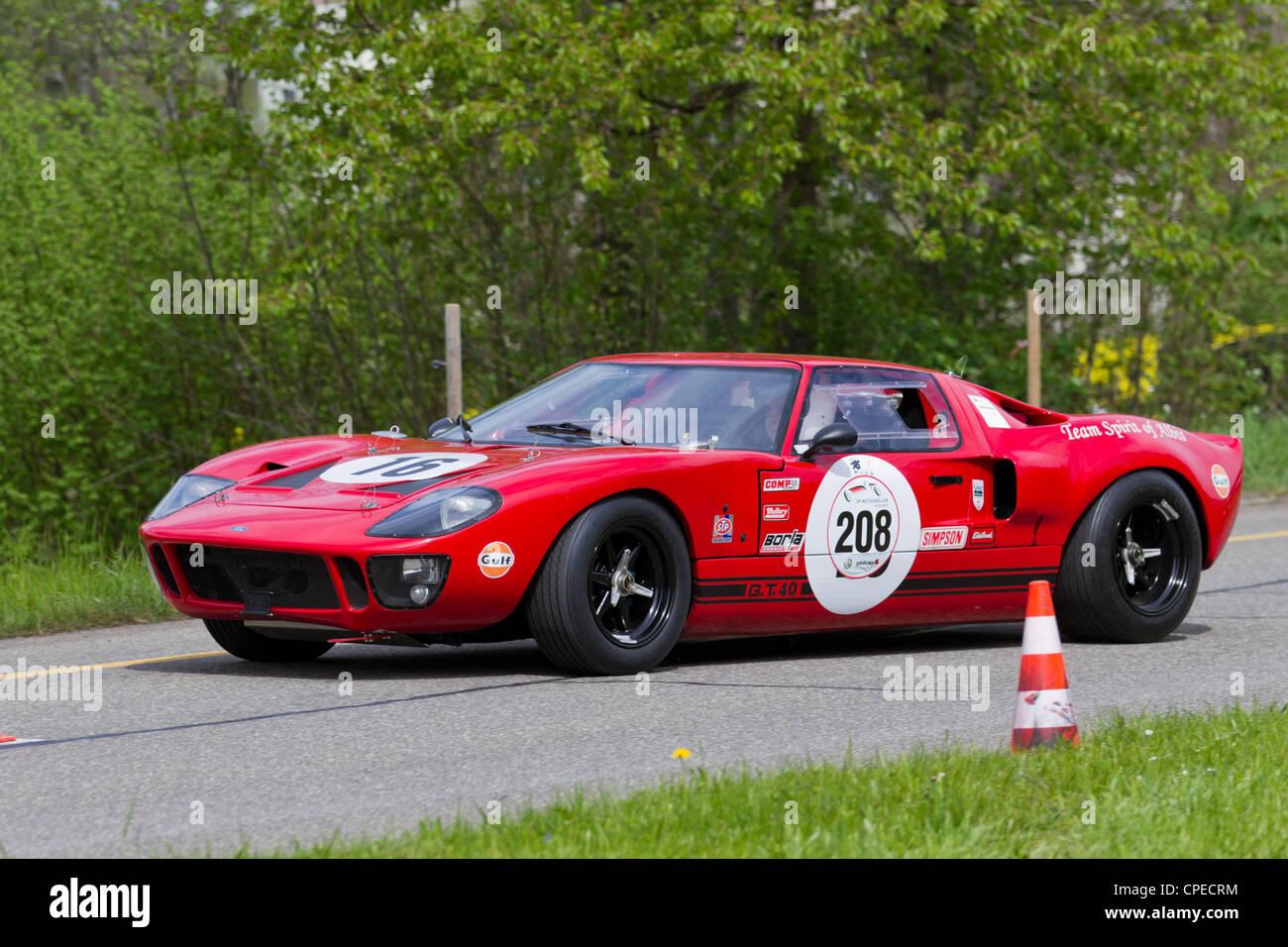 Mutschellen Switzerland April  Vintage Race Touring Car Ford Gt