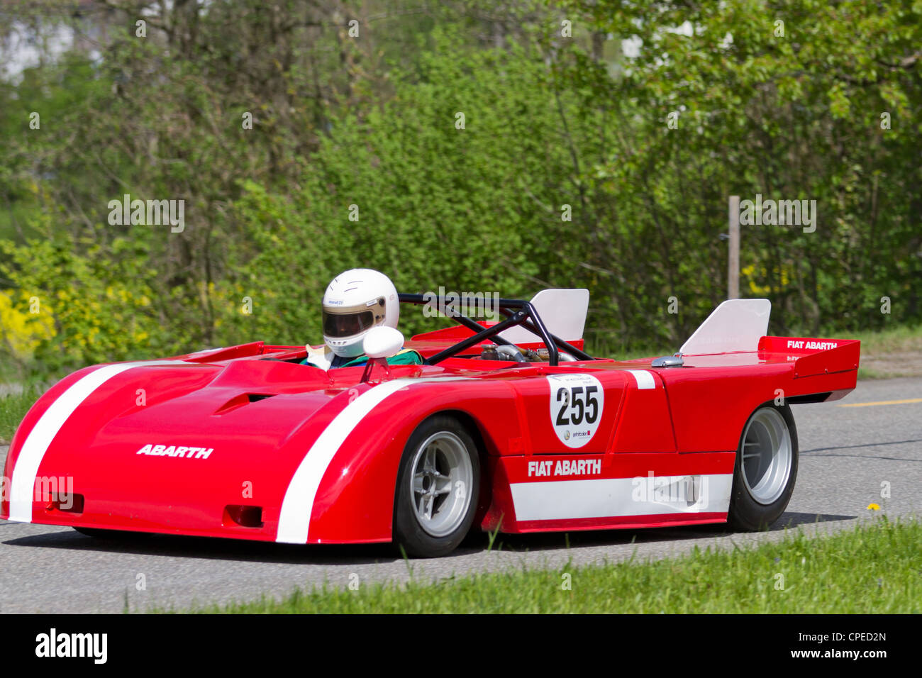 Mutschellen Switzerland April 29 Vintage Race Car Fiat Abarth V8
