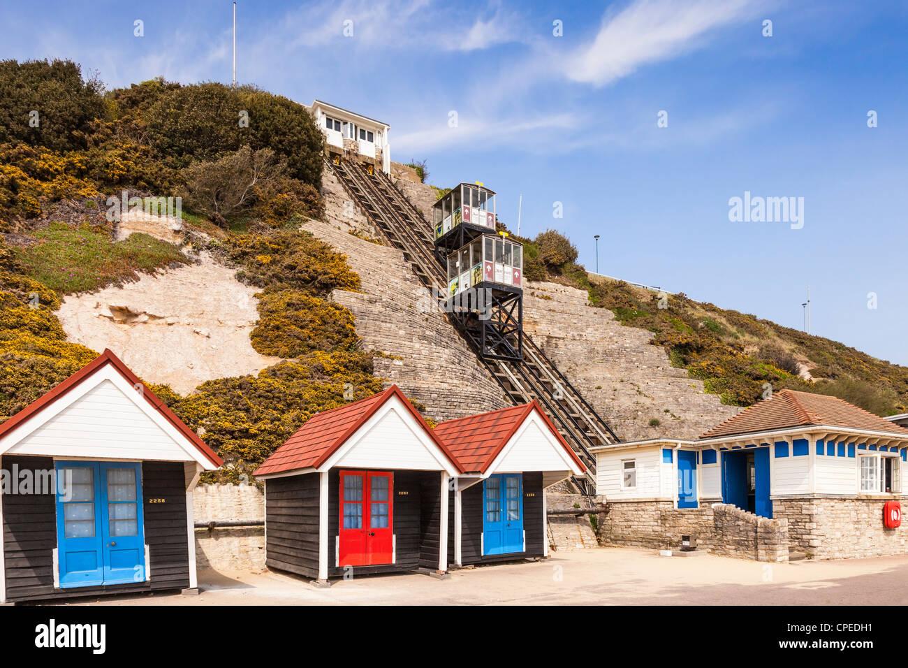 West Cliff Lift Bournemouth Dorset - Stock Image