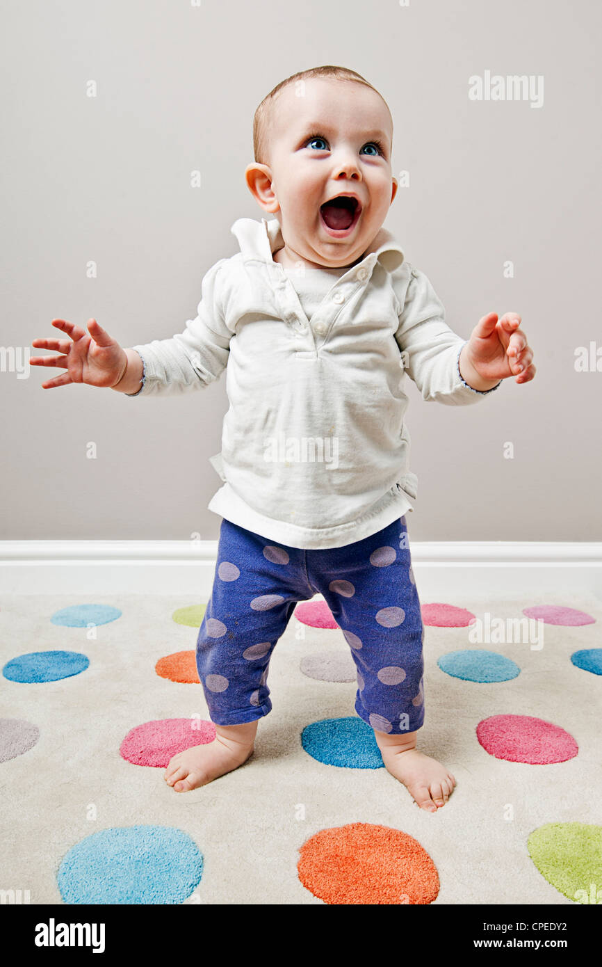 Cute Stock Photography: Cute Baby Standing Stock Photo: 48261446