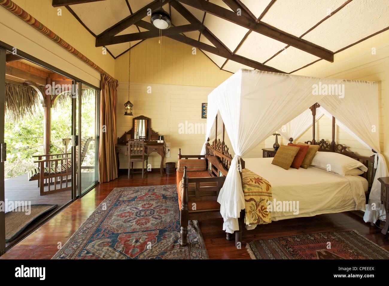 Matemo lodge in the Quirimbas archipelago in Mozambique. - Stock Image