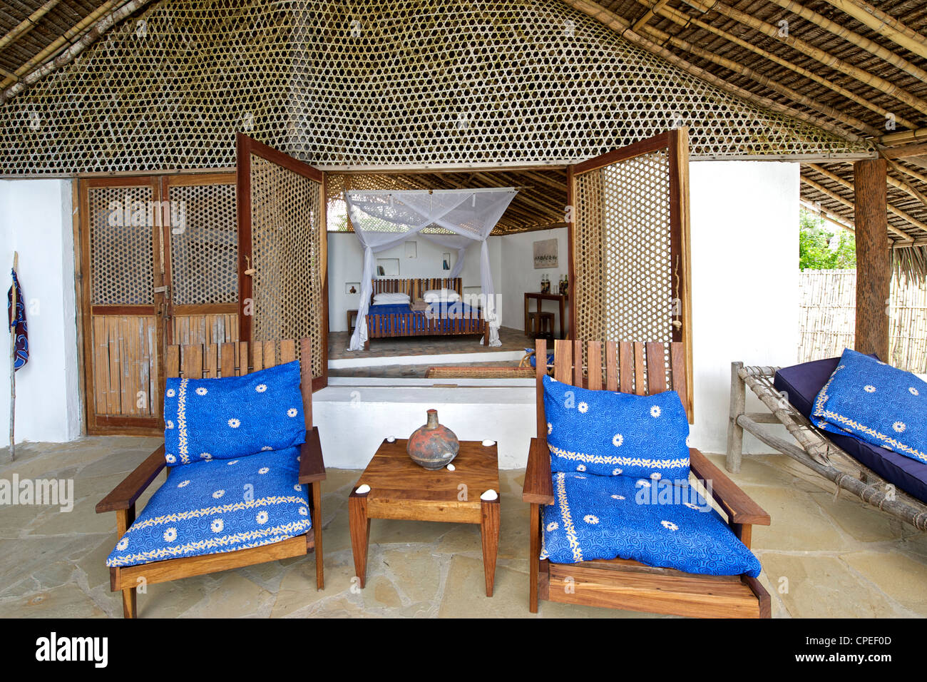 Guludo beach lodge in the Quirimbas National Park in northern Mozambique. - Stock Image