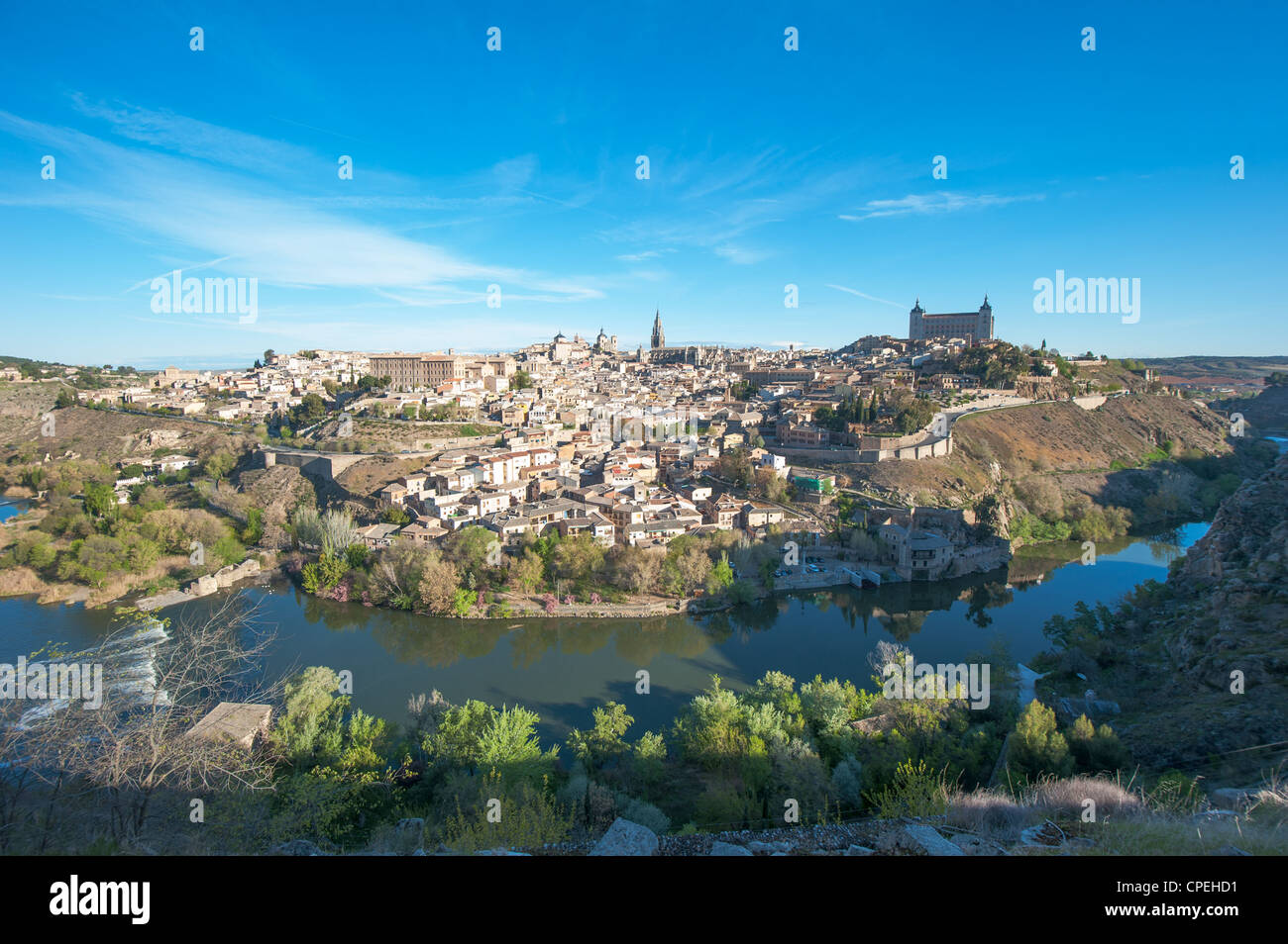 Panorama of Toledo, Spain - Stock Image