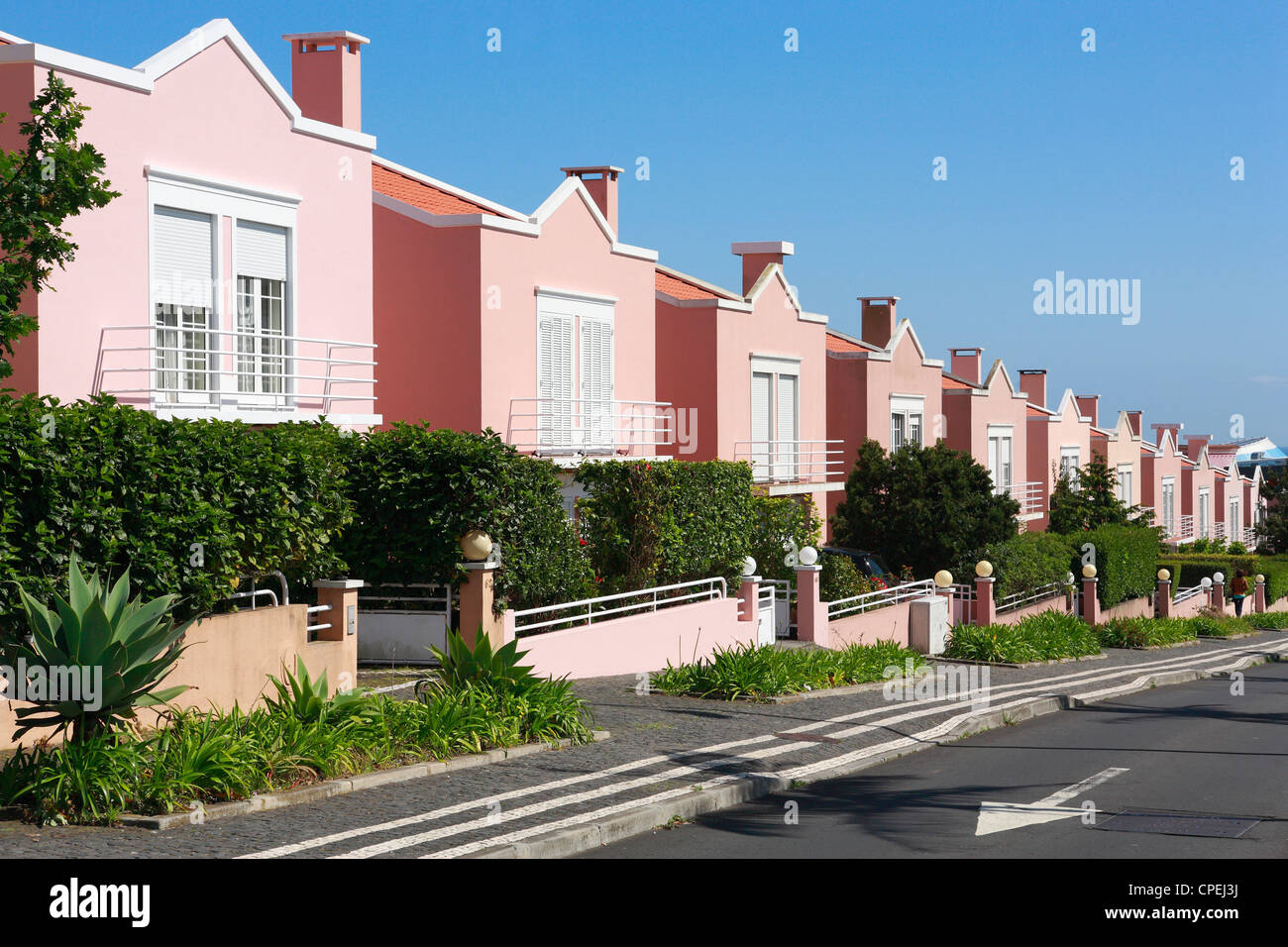 Residential neighborhood - Stock Image