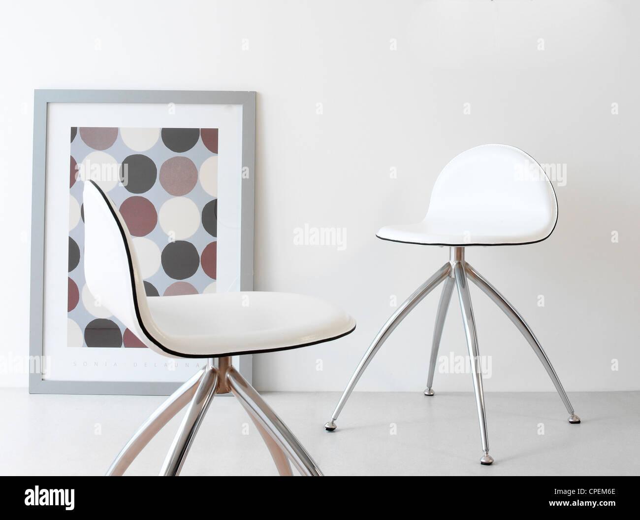 Stylish Chairs, Home Interior - Stock Image